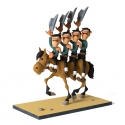 Collectible figure Fariboles Lucky Luke The Daltons on horseback (2017)