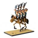 Figura de colección Fariboles Lucky Luke los Daltons a caballo (2017)