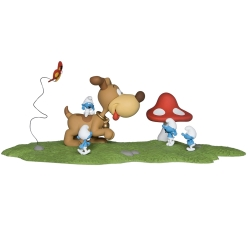 Figura de colección Fariboles Los Pitufos: Puppy PUPZED (2016)