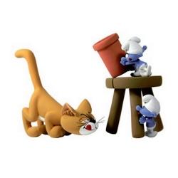 Figurine de collection Fariboles Les Schtroumpfs: Azraël et Cie AZR (2011)