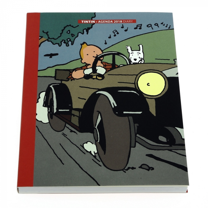 2018 Office diary agenda Tintin in the Land of the Soviets 15x21cm (24362)