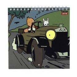 Calendrier 2018 de Tintin au pays des Soviets 15x15cm (24360)