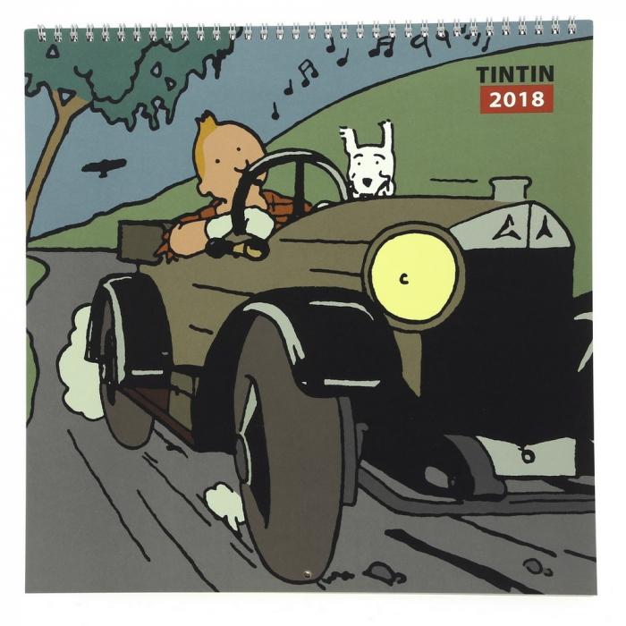 Calendrier 2018 de Tintin au pays des Soviets 30x30cm (24359)