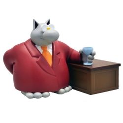 Collectible Figure Plastoy Le Cat at the bar by Philippe Geluck 00188 (2017)