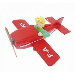 Tirelire figurine Plastoy Le Petit Prince dans son avion 80028 (2016)