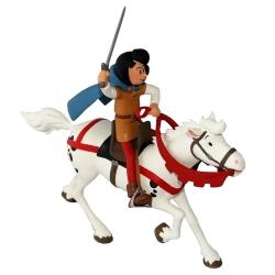 Figura de colección Johan y Pirluit: Johan montando a caballo (2017)