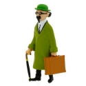 Figurine de collection Tintin Tournesol et valise 8,5cm Moulinsart 42446 (2015)