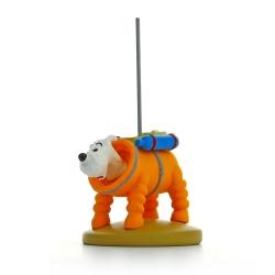 Figurine de collection Tintin Milou en cosmonaute 9cm Moulinsart 42187 (2014)