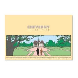 Affiche de l'Exposition Tintin au Château de Cheverny 24060 (40x60cm)