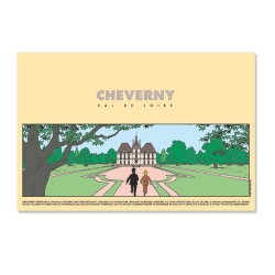 Poster Tintin Moulinsart of Marlinspike Hall entitled Cheverny (40x60cm)