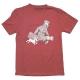 T-shirt Tintin et Milou Le Petit Vingtième ils arrivent !! Rouge chiné (2017)