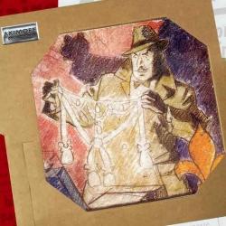 Placa de mármol colección Blake y Mortimer El Caso del Collar (20x20cm)