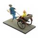 Figura Moulinsart Fariboles Tintín y Milú en el Rickshaw (2017)
