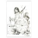Ex-libris Offset Homenaje de Thierry Girod a Thorgal 01 (14,5x21cm)