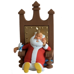 Figura de colección Fariboles Johan y Pirluit: el Rey con un Pitufo ROI (2017)