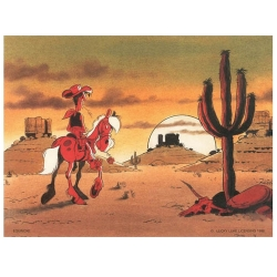 Poster affiche offset Equinoxe Lucky Luke I'm a poor lonesome cowboy (40x30cm)