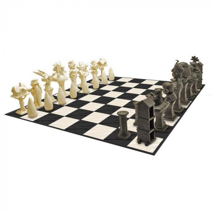 Juego de ajedrez en resina con figuras de Asterix y Obelix Plastoy 00507 (2017)