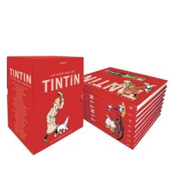 Cofre colección de los álbumes de las aventuras de Tintín 4451-5 (Catalán)