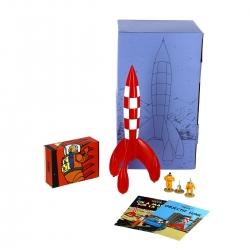 Pack de colección: El cohete lunar y las figuras de Tintín, Haddock y Milú
