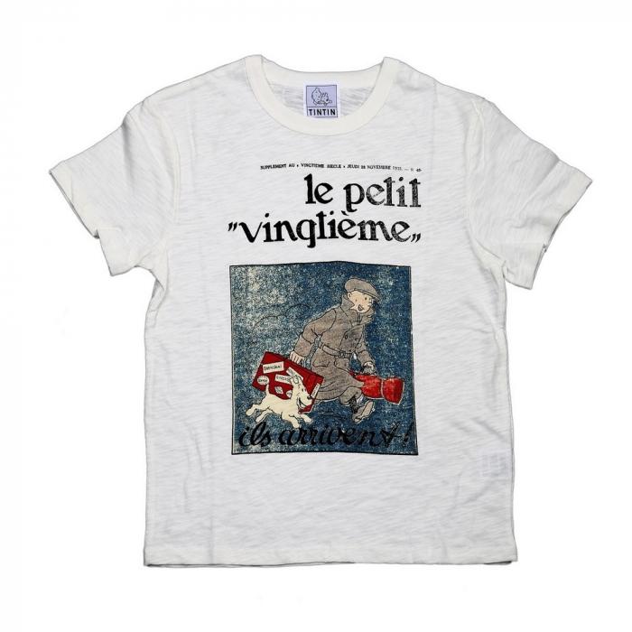 T-shirt 100% coton Tintin et Milou Le Petit Vingtième ils arrivent !! (2016)