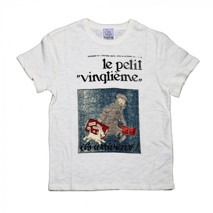T-shirt 100% cotton Tintin and Snowy Le Petit Vingtième ils arrivent !! (2016)