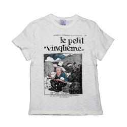 T-shirt 100% coton Le Petit Vingtième Tintin en Amérique (2016)
