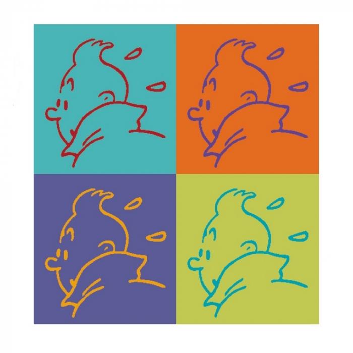 Autocollant Les Aventures de Tintin Profil 11,5x11,5cm (04352)
