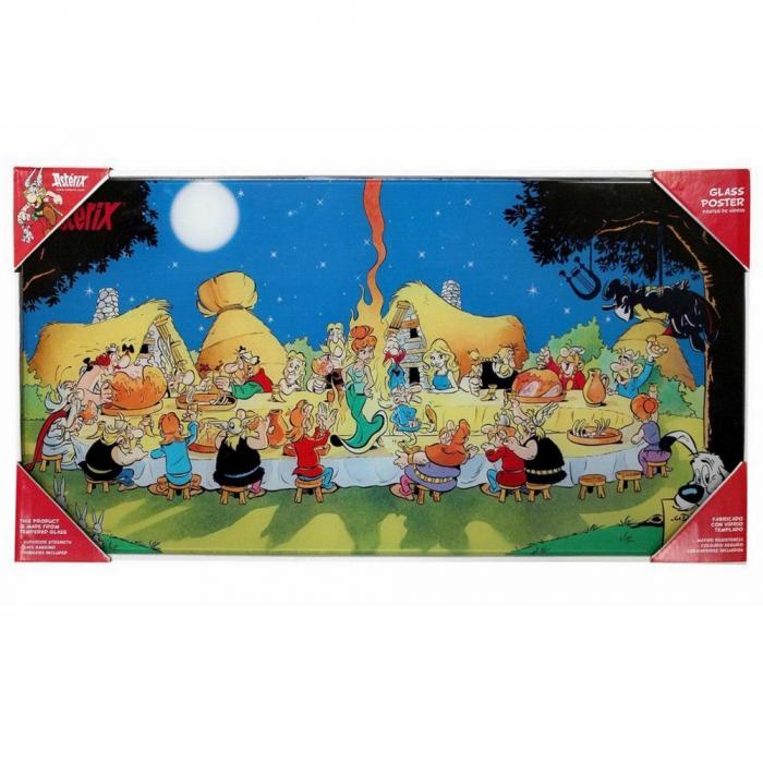 Póster de colección en vidrio SD Toys Astérix El Banquete (60x30cm)