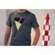 T-shirt Les Aventures de Tintin: La fusée lunaire - Gris (2017)