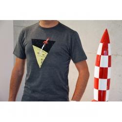 T-shirt Tintin The Adventures of Tintin: The lunar rocket - Grey (2017)