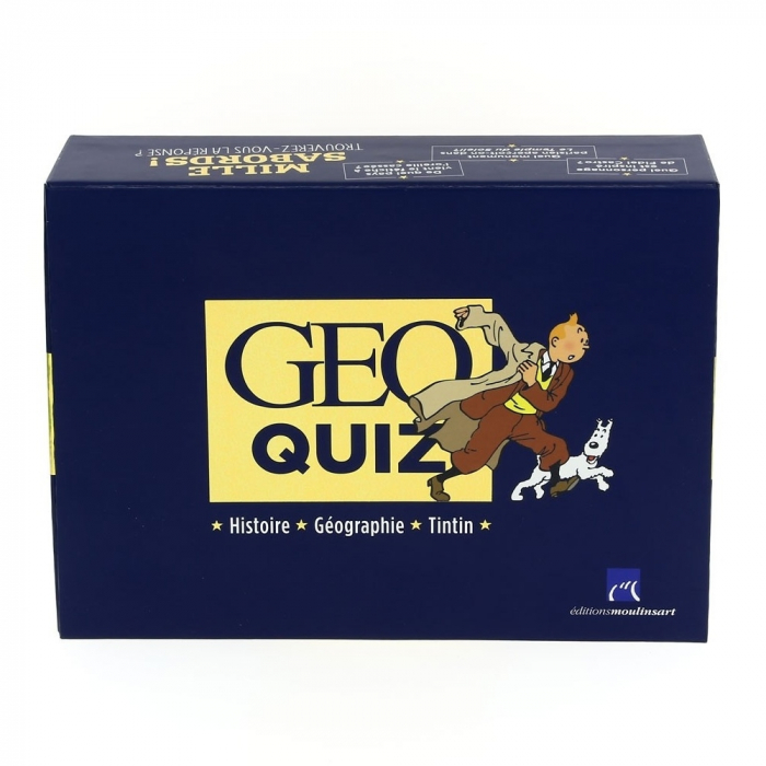 Playing box game Geo Quiz 400 Questions Moulinsart Tintin (24059)