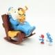 Figurine de collection Pixi Les Schtroumpfs: Omnibus et le Chien Puppy (2017)