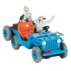Coche de colección Tintín La Jeep Azul CJ2A Objetivo la Luna Nº1 29001 (2002)