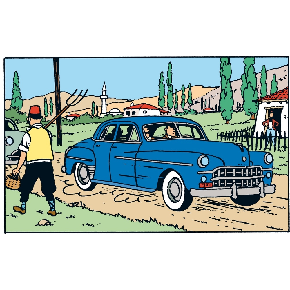 voiture de collection tintin et milou dans la dodge coronet n 30 29030 2004 bd addik. Black Bedroom Furniture Sets. Home Design Ideas