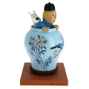 Figurine de collection Moulinsart Tintin et Milou dans la potiche 46401 (2017)