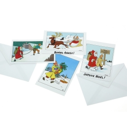 Set of 10 Christmas and New Year Tintin Postcards 31306 (10x15cm)