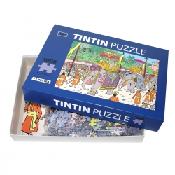 Tintin puzzle The elephant of his Highness with poster 50x67cm 81545 (2017)