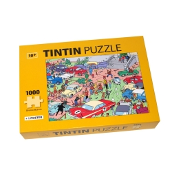Tintin puzzle The Moulinsart Rally with poster 50x67cm 81546 (2017)