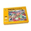 Puzzle Tintín El rally de Moulinsart con poster 50x67cm 81546 (2017)