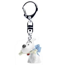 Porte-clés buste de Tintin Milou avec son os Moulinsart 4cm 42316 (2017)