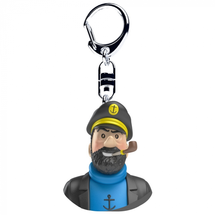 Keyring chain bust Tintin The Captain Haddock Moulinsart 4cm 42315 (2017)