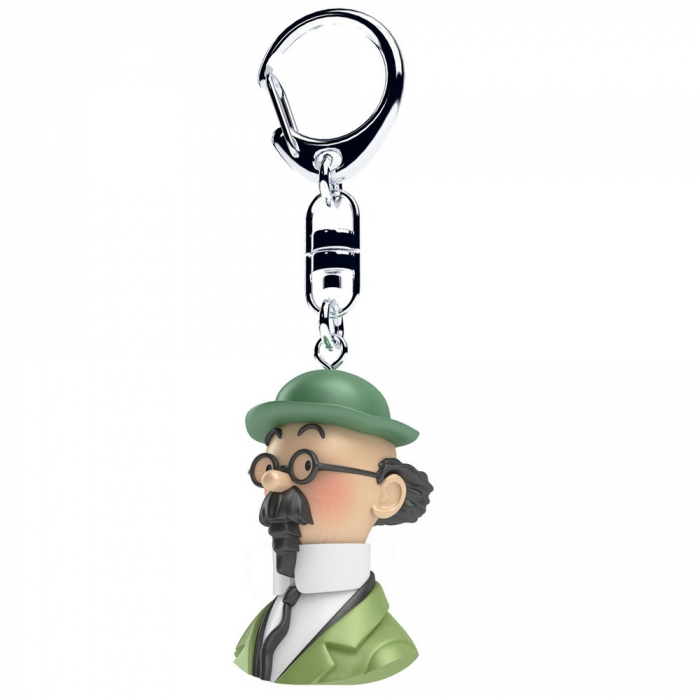 Keyring chain bust Tintin The Professor Calculus Moulinsart 4cm 42320 (2017)