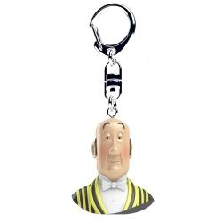 Porte-clés buste de Tintin Nestor Moulinsart 4cm 42321 (2017)