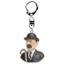 Keyring chain bust Tintin Thompson Moulinsart 4cm 42318 (2017)