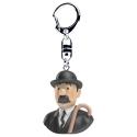 Porte-clés buste de Tintin Dupont Moulinsart 4cm 42317 (2017)