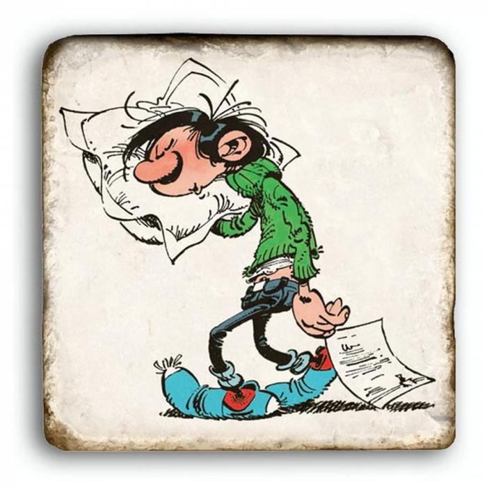 Gaston lagaffe dort for Chut bebe dort pancarte