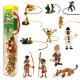 Serie tubo de 12 figuras de colección Plastoy Marsupilami (2015)
