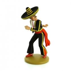 Figurine de collection Tintin Alcazar lanceur de couteau Moulinsart Nº10 (2013)