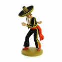 Collection figure Tintin Alcazar knife-throwing 13cm Moulinsart Nº10 (2013)