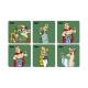 Set de 6 sous-verres SD Toys Astérix et Obélix Légionnaires 27861 (2017)